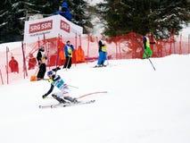 FIS Weltcup Adelboden die Schweiz Lizenzfreies Stockfoto