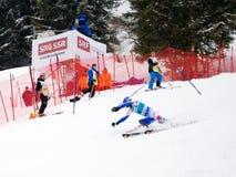 FIS Weltcup Adelboden die Schweiz Stockfotografie