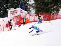 FIS World cup Adelboden Switzerland. Sunday first run Stock Photography