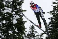 Fis World Cup Nordic Combined Stock Image