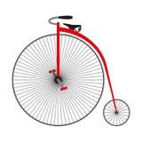 Fisacykel för encentmynt retro cykel Royaltyfri Bild