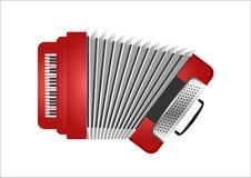 Fisarmonica di rosso di vettore Fotografie Stock Libere da Diritti