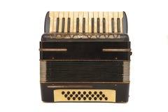 Fisarmonica marrone degli anni 30 dell'annata isolata Fotografie Stock