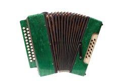 Fisarmonica verde Fotografia Stock Libera da Diritti