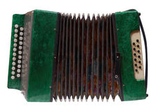 Fisarmonica verde Fotografie Stock