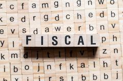 Fiscaal woordconcept royalty-vrije stock foto