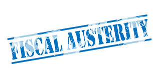 Fiscal austerity blue stamp Stock Photography