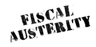 Fiscal Austerity rubber stamp Stock Image