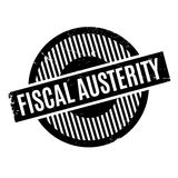 Fiscal Austerity rubber stamp Stock Photo
