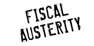 Fiscal Austerity rubber stamp Stock Photos