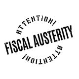 Fiscal Austerity rubber stamp Royalty Free Stock Images
