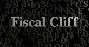 Fiscal Cliff - 3D rendered metallic typeset headline illustration. Can be used for an online banner ad or a print postcard Stock Image