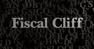 Fiscal Cliff - 3D rendered metallic typeset headline illustration Stock Image