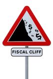 Fiscal Cliff Road Sign Royalty Free Stock Images