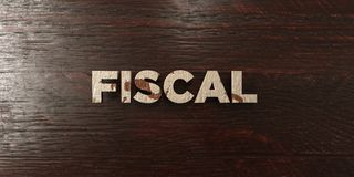 Fiscal - grungy wooden headline on Maple  - 3D rendered royalty free stock image Royalty Free Stock Photo