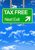Fiscal paradise road sign or tax free concept. Fiscal paradise green road sign or tax free concept Royalty Free Stock Photo