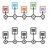 Fiscal Year Timeline Chart. An image of a business fiscal year timeline chart Stock Photo