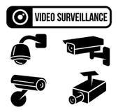 Fiscalização video, CCTV, segurança, câmera do espião Fotografia de Stock Royalty Free
