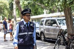 Fiscalization i kontrolny inspektorski oficer Miraflores zdjęcie royalty free