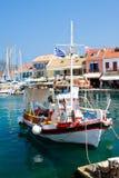 Fiscardo harbor village, Kefalonia Royalty Free Stock Photos