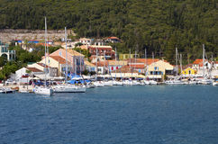 Fiscardo traditional village at Kefalonia Royalty Free Stock Image