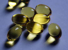 Fischöl Omega-Pillen Stockbild