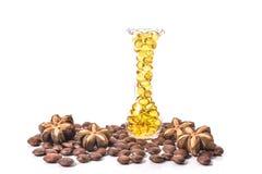 Fischölkapsel, Omega 3-6-9 weiche Gelkapseln des Fischöl-Gelbs Lizenzfreies Stockfoto