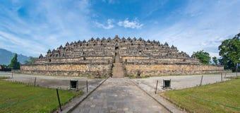 Fisch-Auge Ansicht des alten Borobudur Tempels Stockbild
