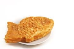 Fisch-förmiger Pfannkuchen stockbilder
