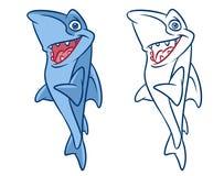 Fisch-Haifischkarikatur Illustrationen Stockfotografie