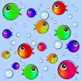 Fisch-Hintergrund-Illustration vektor abbildung