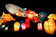 Fisch-Laternen-Show stockbilder