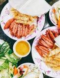 Fisch-Nudelsuppe Chau Doc. lizenzfreies stockfoto