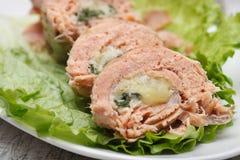 Fisch rollt mit Käse Lizenzfreie Stockfotos