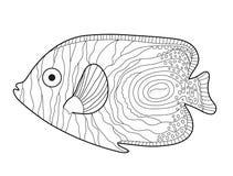 Fisch-Skizzengekritzelart Eine junge Frau in ihrer Unterwäsche Fischmalbuch Auch im corel abgehobenen Betrag stock abbildung