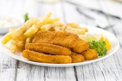 Free Fisch Sticks (close-up Shot) On An Old Wooden Table Stock Photos - 75952833