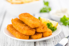 Free Fisch Sticks (close-up Shot) On An Old Wooden Table Royalty Free Stock Photo - 76030695