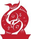 Fisch-Tierkreis/Horoskop-Symbol Stockfotos