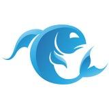 Fisch-Tierkreis-Stern-Zeichen Lizenzfreie Stockbilder