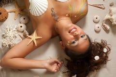 Fisch-Tierkreisfrau Stockfoto
