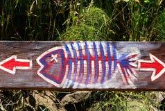 Fisch-Zeichen stockfotografie