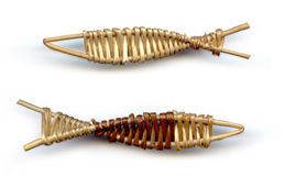 Fischandenkenflechtweide Stockfoto