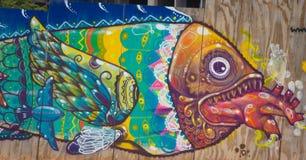 Fischartig auf der Wand Lizenzfreies Stockbild