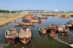 Fischboote stockfoto