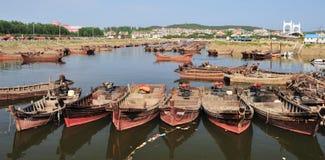 Fischboote stockbilder
