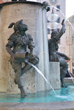 The Fischbrunnen or Fish Fountain in Munich stock photography