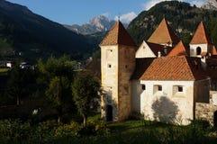 Fischburg famoso nas montanhas da dolomite/Saint Cristina no vale do gardena Imagem de Stock Royalty Free