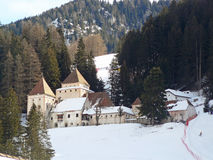 Fischburg im Wald - Val Gardena/St. Christina Lizenzfreie Stockfotos