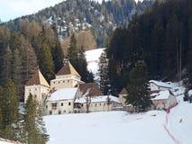 Fischburg na floresta - Val Gardena/st Christina fotos de stock royalty free