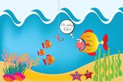 Fische auf der Unterseite des Meeres lizenzfreies stockfoto